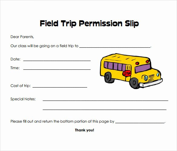 Youth Permission Slip Template Lovely Free 14 Permission Slip Samples In Word