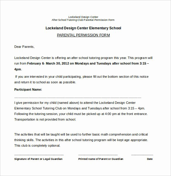 Youth Permission Slip Template Luxury Slip Template 13 Free Word Excel Pdf Documents